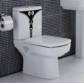 Vinilos baños y paredes monstruo cremallera