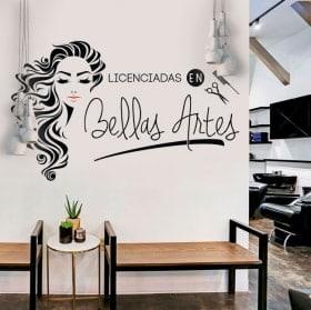Vinilos peluquerías licenciadas en bellas artes
