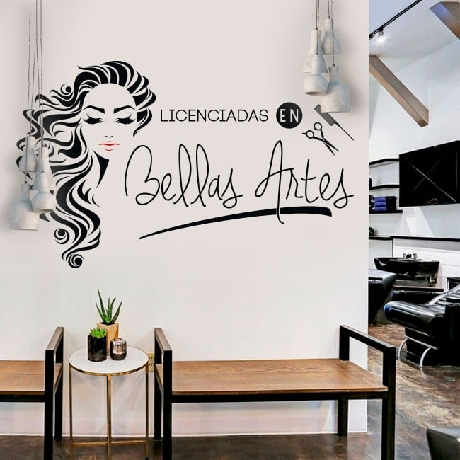 vinilos peluquer as licenciadas en bellas artes