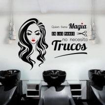 Vinilos salones de belleza y peluquerías quien tiene magia