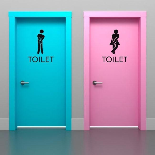 Vinilos señalización para baños y aseos