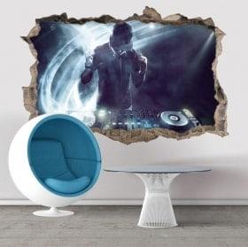 Vinilos decorativos paredes DJ 3D