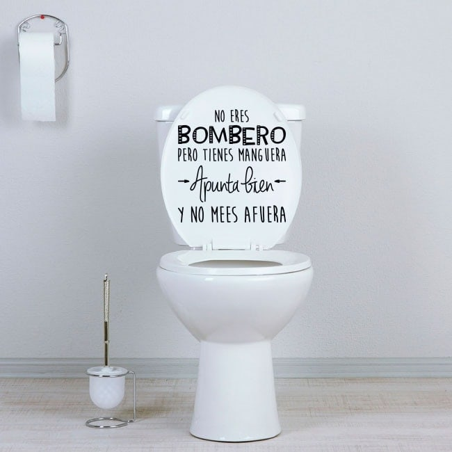 Vinilos para baños y aseos no eres bombero