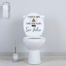 Vinilos para WC siempre habrá razones para ser feliz