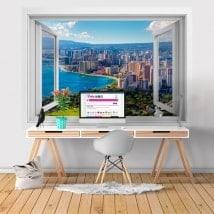 Ventanas de vinilo 3D playas Honolulu Hawái