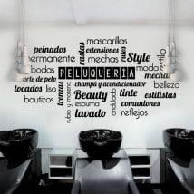 Vinilos textos y palabras peluquerías