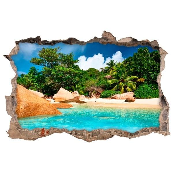 Vinilos decorativos isla tropical 3d for Vinilos decorativos 3d