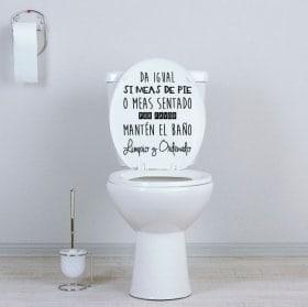 Vinilos WC mantén el baño limpio y ordenado