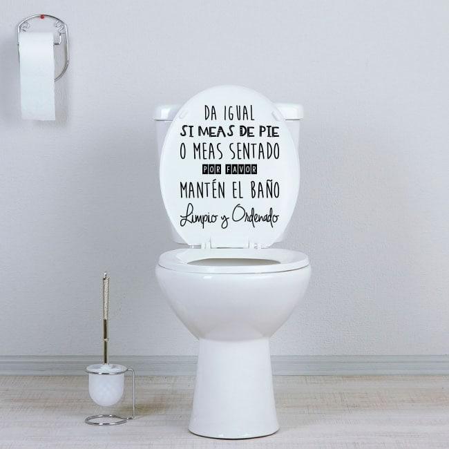 Simulador Baños | Vinilos Wc Manten El Bano Limpio Y Ordenado