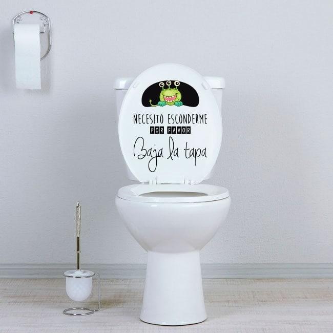 Vinilos WC esconde al monstruo