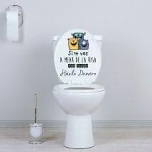 Vinilos WC si te vas a mear de la risa