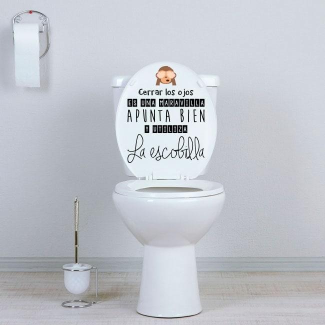 Vinilos para WC baños apunta bien