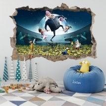 Vinilos paredes minions mi villano favorito 3D