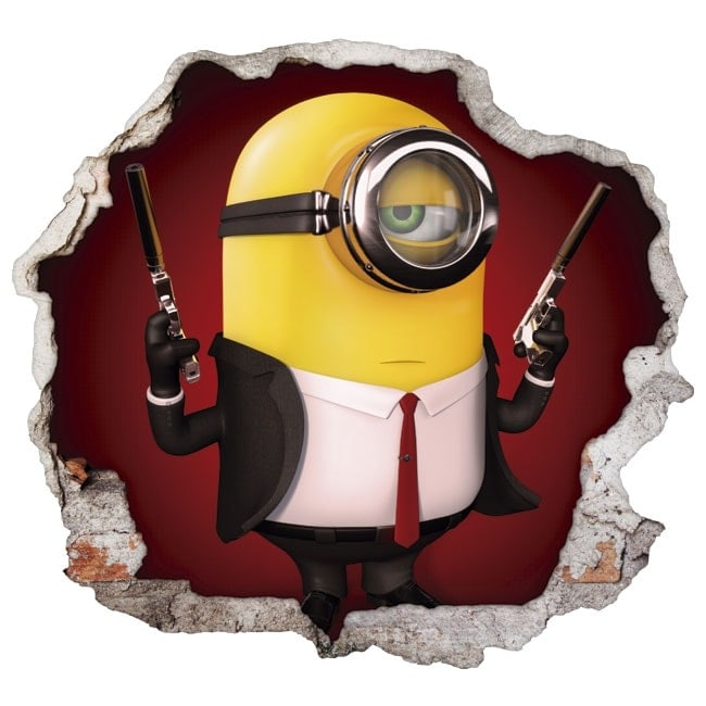 Vinilos decorativos paredes minion hitman 3d for Vinilos decorativos 3d