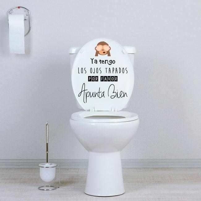 Vinilos WC baños apunta bien
