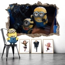 Vinilos para paredes minions mi villano favorito 3D