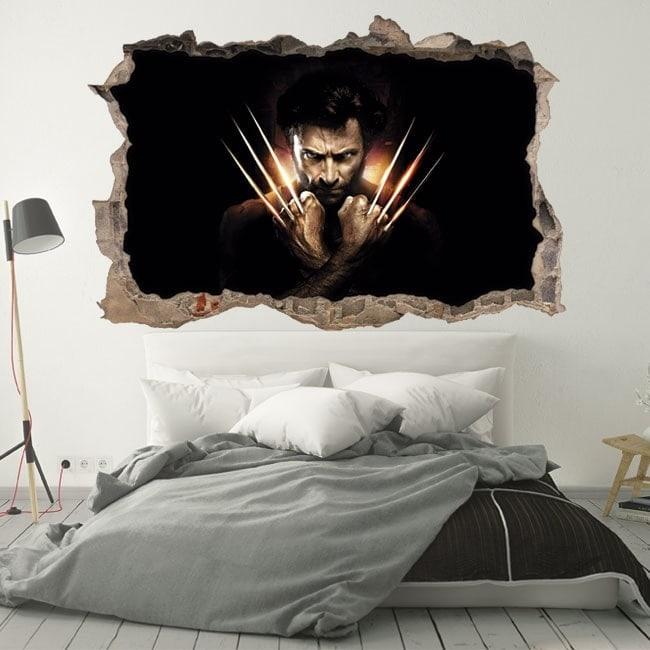 Vinilos paredes X-Men Orígenes Wolverine 3D