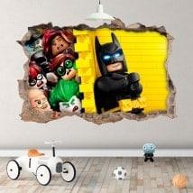 Vinilos infantiles Batman lego 3D