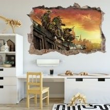 Vinilos decorativos las tortugas ninja 3D