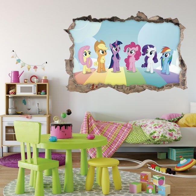 Vinilos y pegatinas mi peque o pony 3d - Vinilos pequenos ...