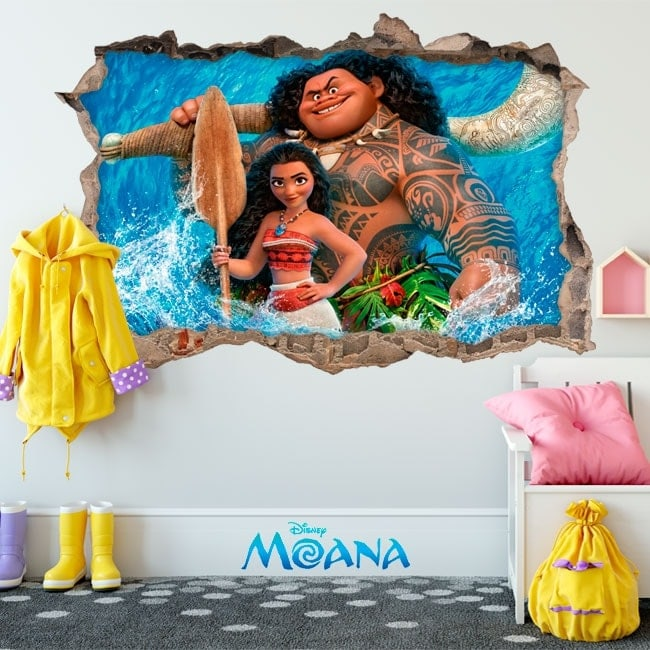 Vinilos decorativos disney vaiana 3d for Vinilos decorativos 3d