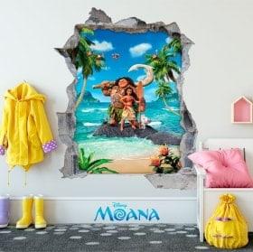 Vinilos decorativos infantiles Disney Moana 3D