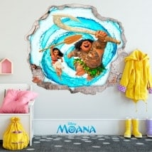 Vinilos de pared Disney Vaiana 3D