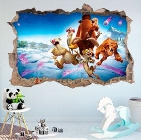 Vinilos decorativos ice age el gran cataclismo 3D