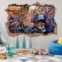 Vinilos decorativos infantiles zootrópolis 3D