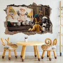 Vinilos de pared la oveja Shaun 3D