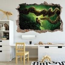 Vinilos 3D agujero pared el libro de la selva