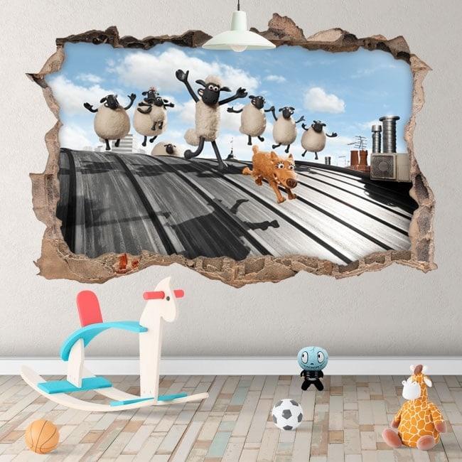 Vinilos la oveja Shaun 3D