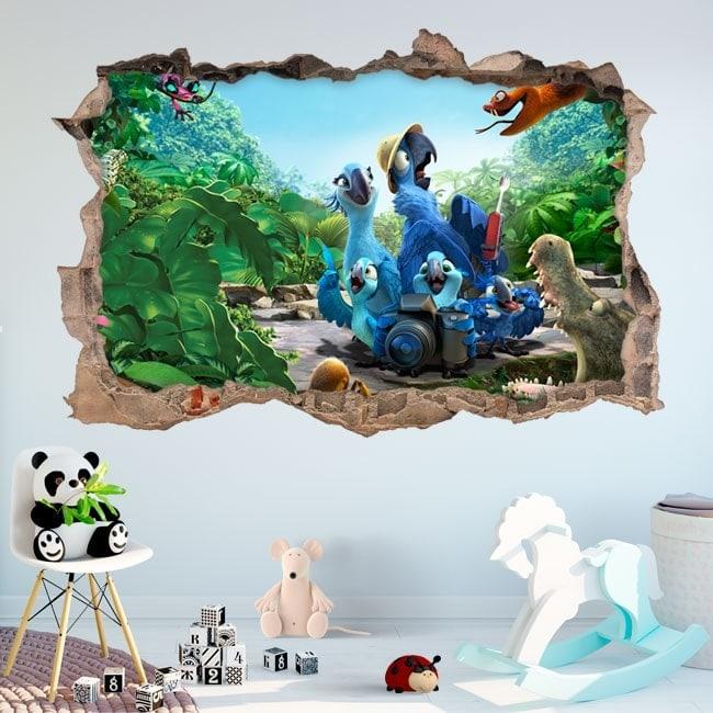 Vinilos decorativos paredes 3D Río 2