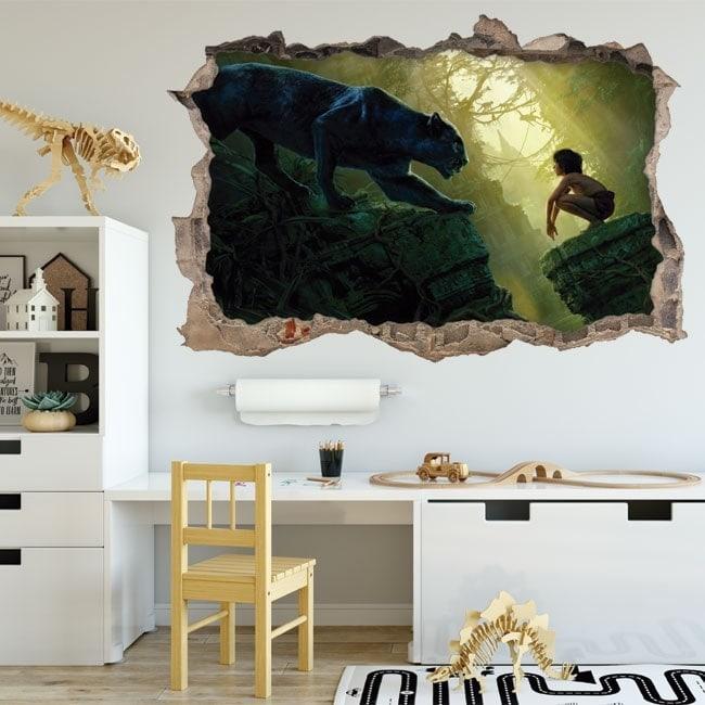 Vinilos infantiles el libro de la selva 3D
