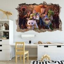 Vinilos infantiles 3D toy story el tiempo perdido