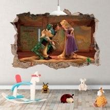 Vinilos infantiles Tangled Rapunzel Disney 3D