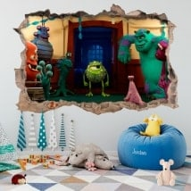 Vinilos infantiles monster university 3D