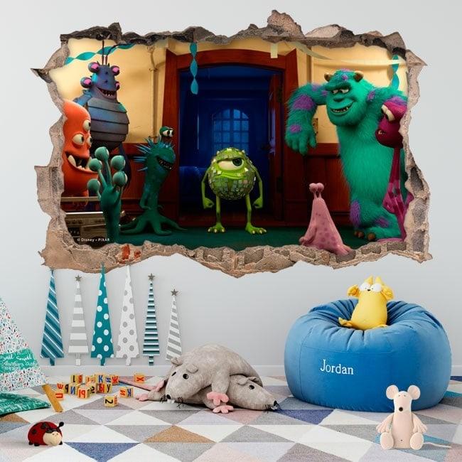 Vinilos infantiles monster university 3D