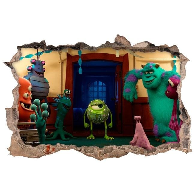 Vinilos infantiles monster university 3d for Vinilos 3d infantiles