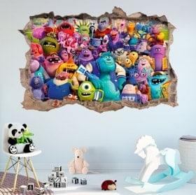 Vinilos paredes monster university 3D