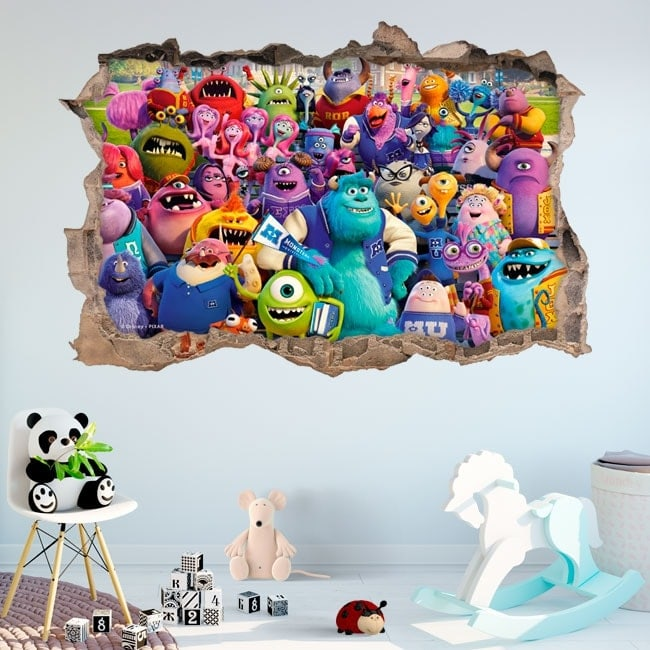 Vinilos paredes monster university 3D