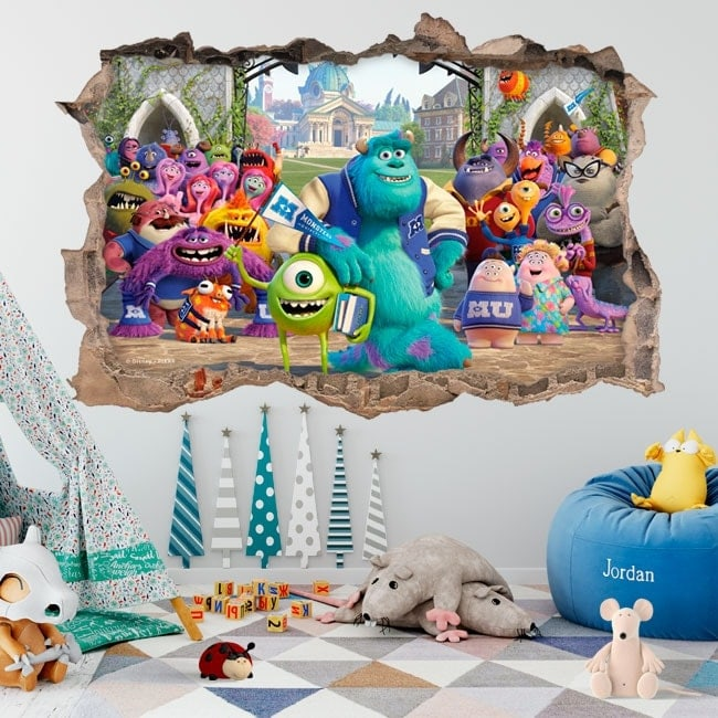 Vinilos decorativos monsters university 3D