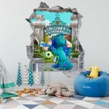 Pegatinas infantiles monsters university 3D