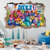 Vinilos adhesivos 3D monsters university