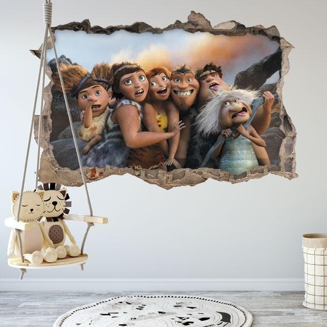 Vinilos infantiles 3D Los Croods