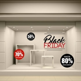 Pegatinas de vinilo black friday