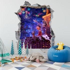 Vinilos 3D infantiles Disney Pixar Coco