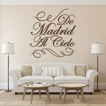 Vinilos decorativos de Madrid al cielo