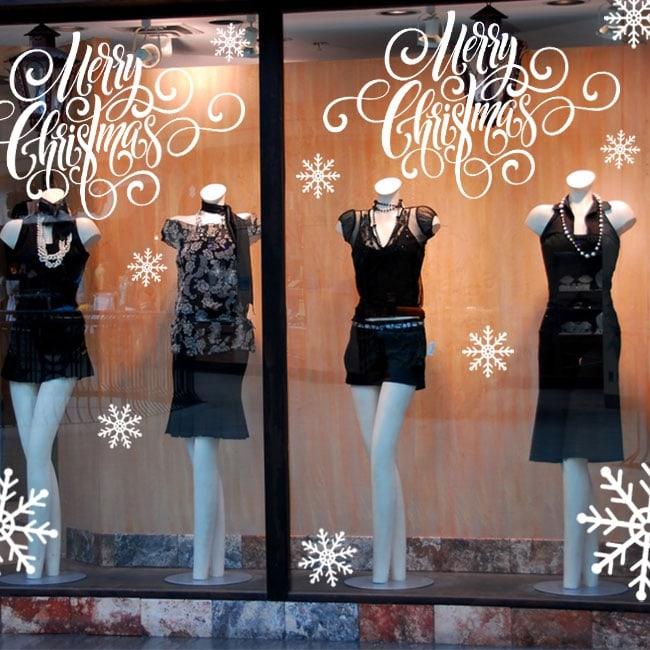 Vinilos decoración navidad merry christmas