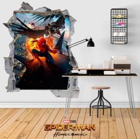 Vinilos adhesivos 3D Spiderman Homecoming